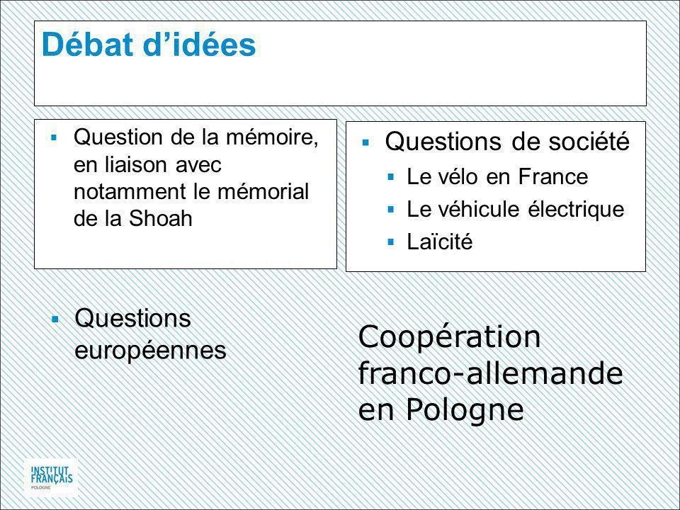 Débat d'idées Coopération franco-allemande en Pologne