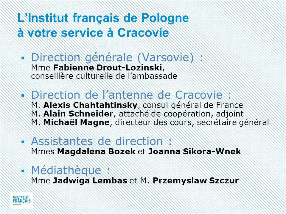 L'Institut français de Pologne à votre service à Cracovie