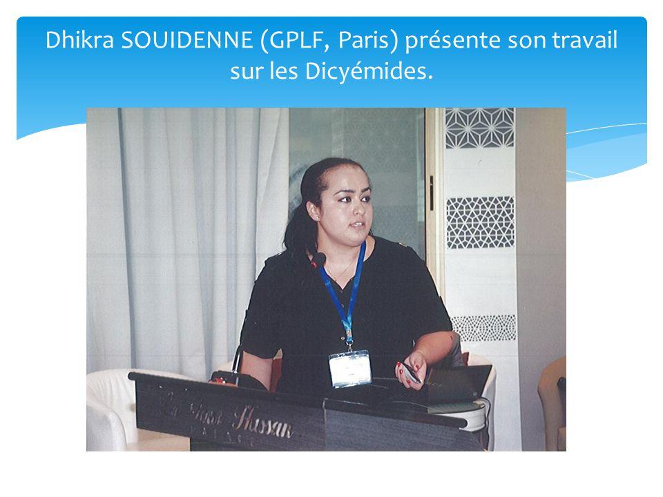 Dhikra SOUIDENNE (GPLF, Paris) présente son travail sur les Dicyémides.