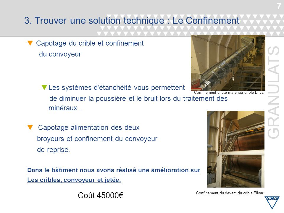 3. Trouver une solution technique : Le Confinement