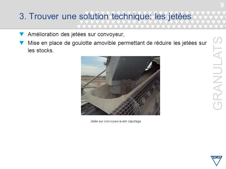 3. Trouver une solution technique: les jetées