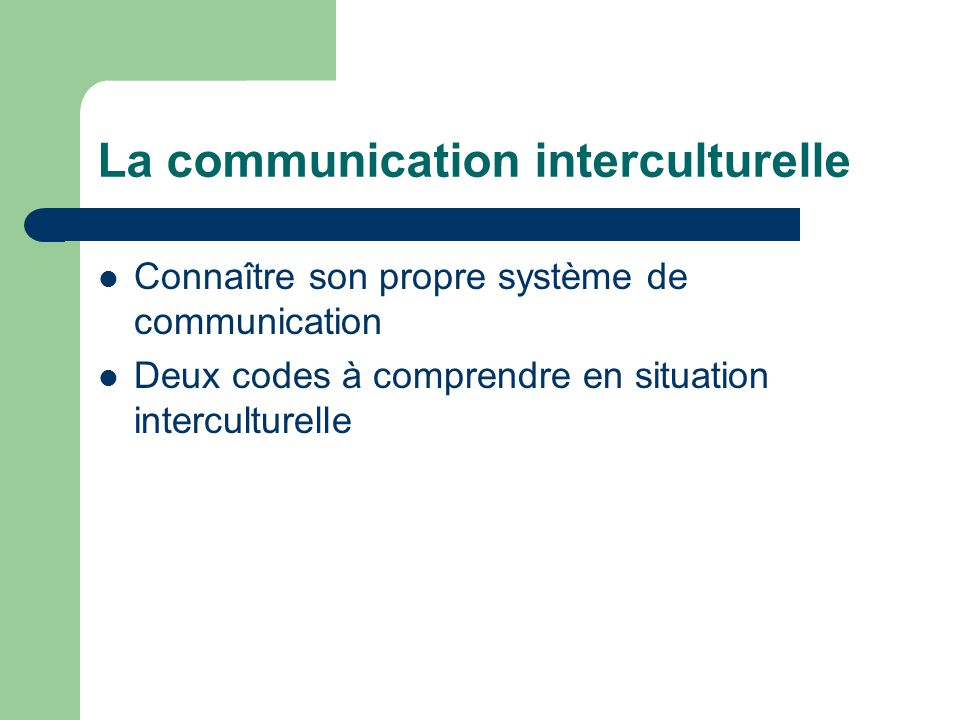 La communication interculturelle