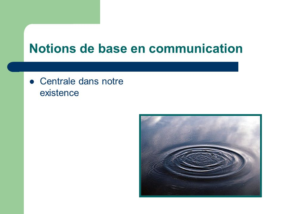 Notions de base en communication