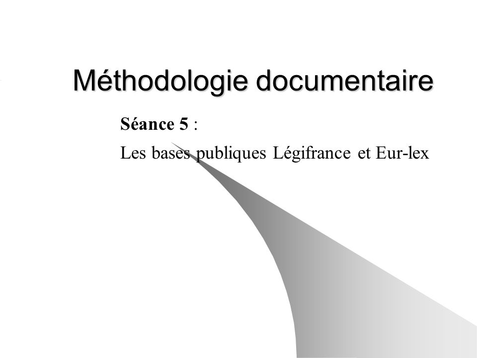 Méthodologie documentaire