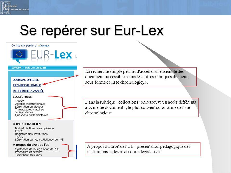 Se repérer sur Eur-Lex