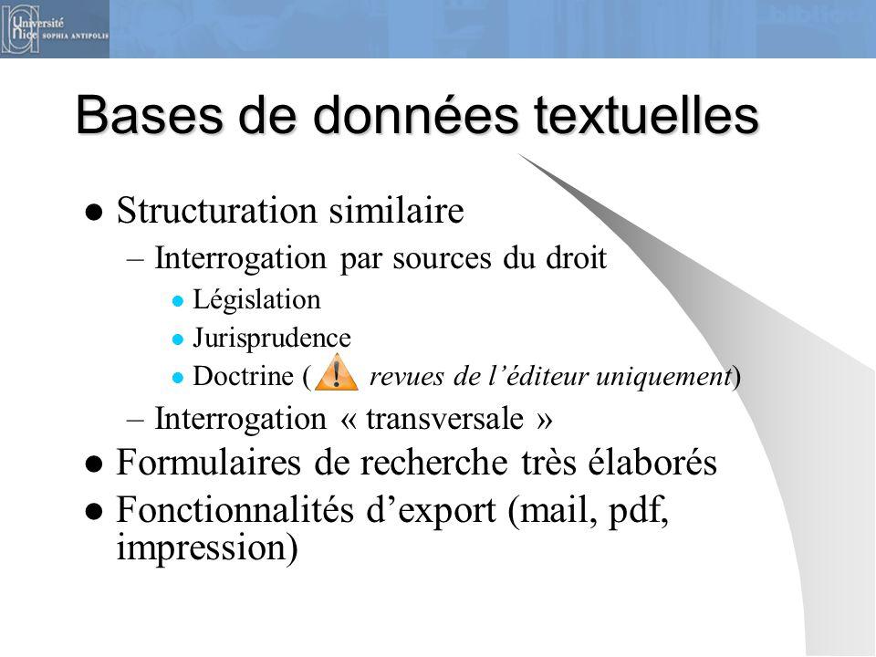 Bases de données textuelles