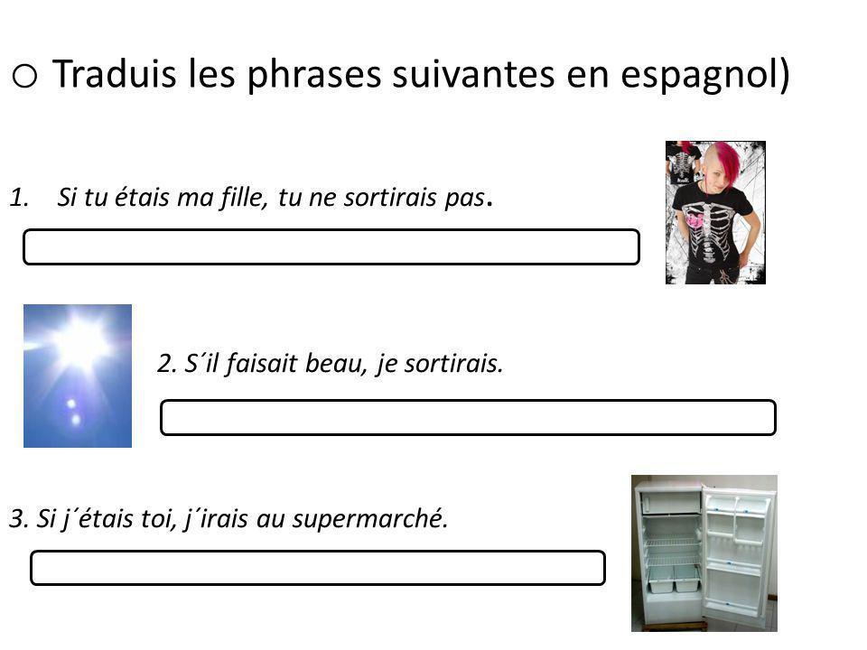 Traduis les phrases suivantes en espagnol)