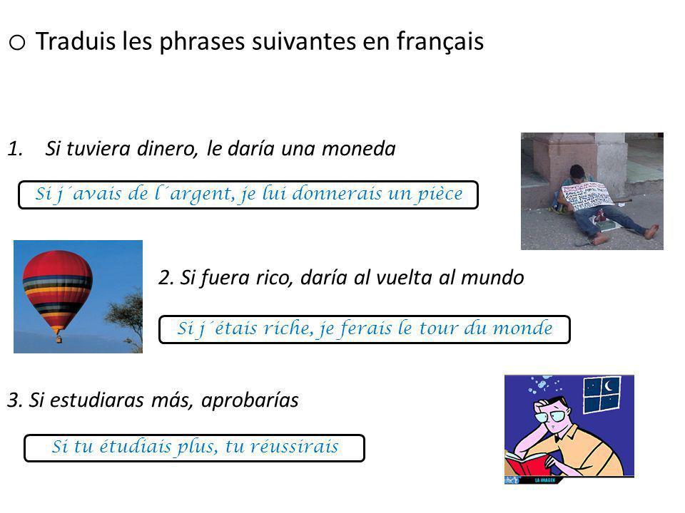 Traduis les phrases suivantes en français
