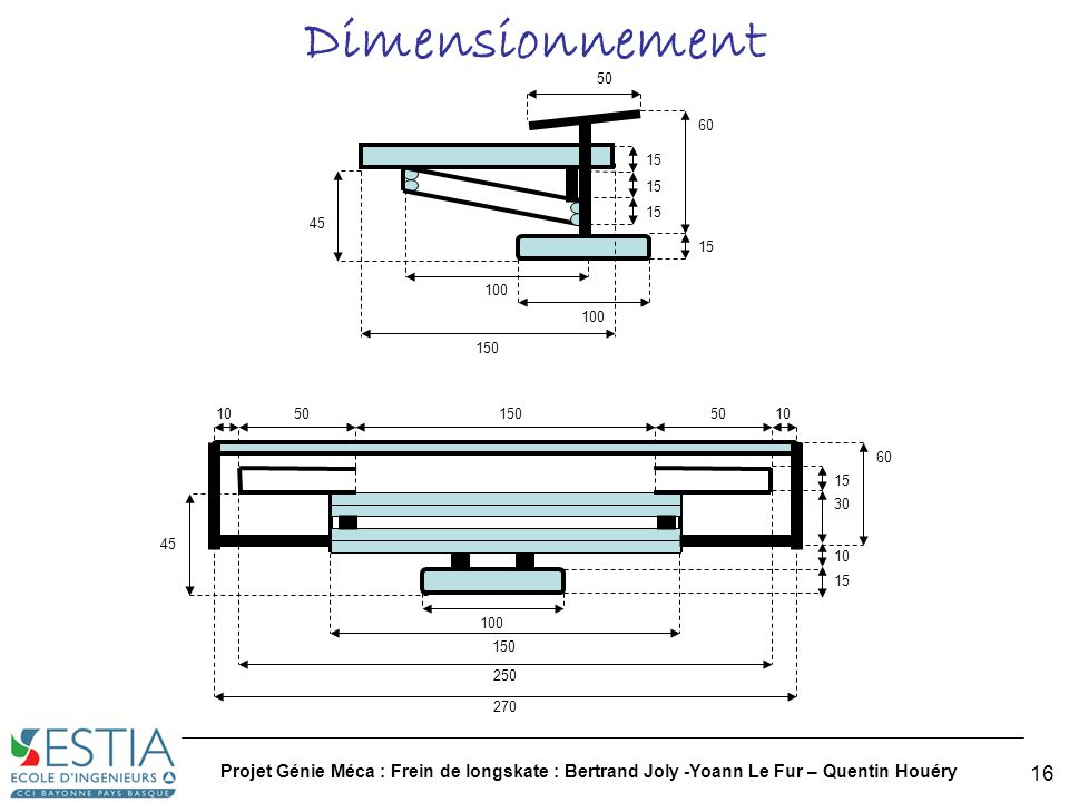 Dimensionnement 50. 100. 150. 15. 60. 45. 100. 150. 250. 15. 30. 60. 10. 50. 270. 45.