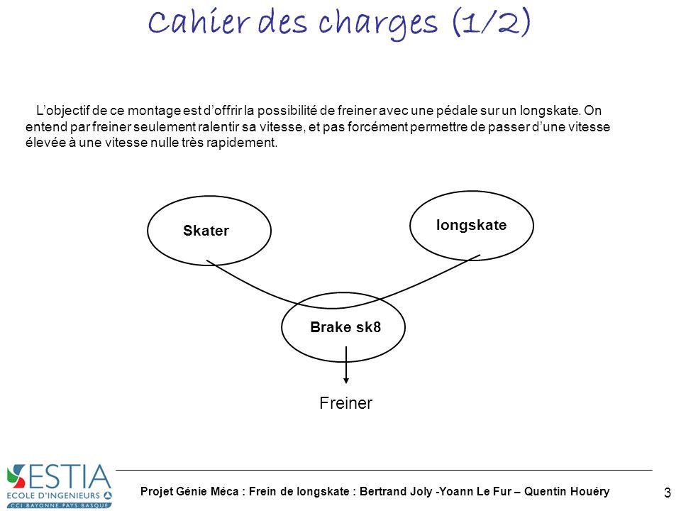 Cahier des charges (1/2) Freiner longskate Skater Brake sk8