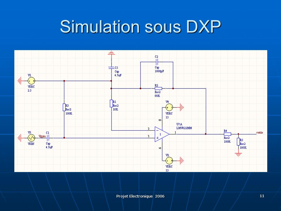 Simulation sous DXP Projet Electronique 2006