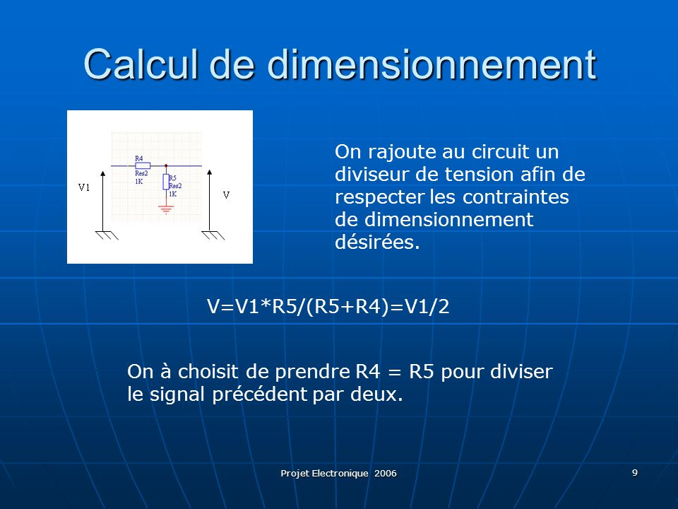 Calcul de dimensionnement