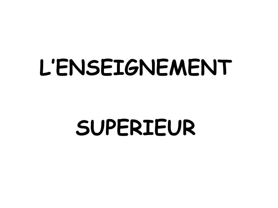 L'ENSEIGNEMENT SUPERIEUR