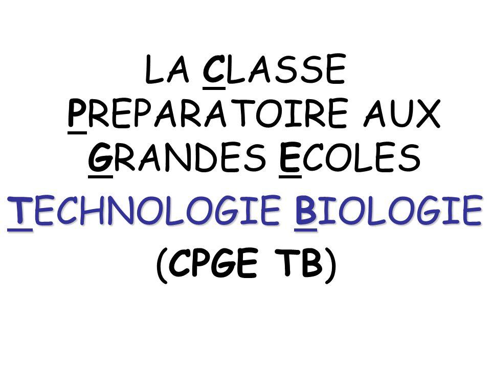 LA CLASSE PREPARATOIRE AUX GRANDES ECOLES