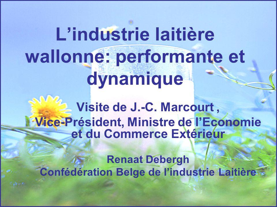L'industrie laitière wallonne: performante et dynamique