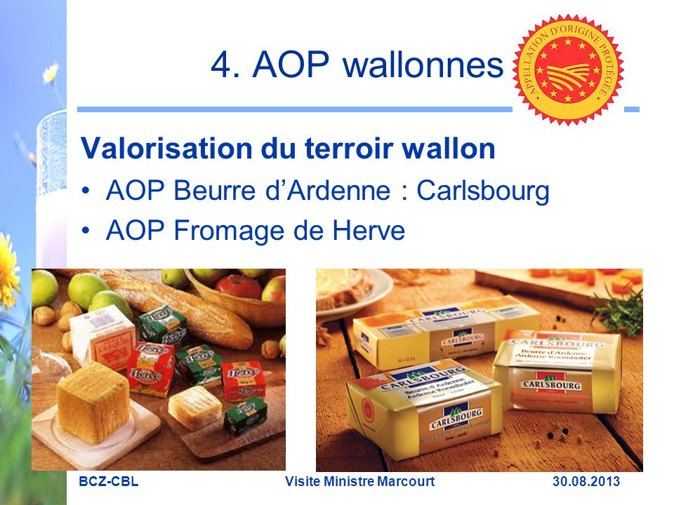 4. AOP wallonnes Valorisation du terroir wallon