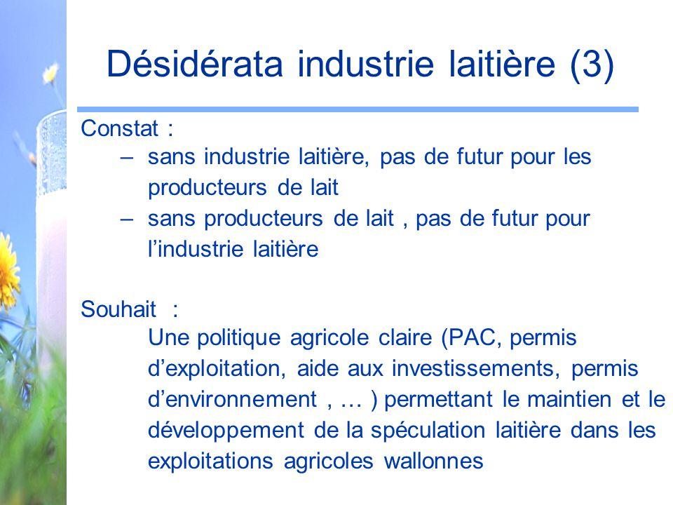 Désidérata industrie laitière (3)
