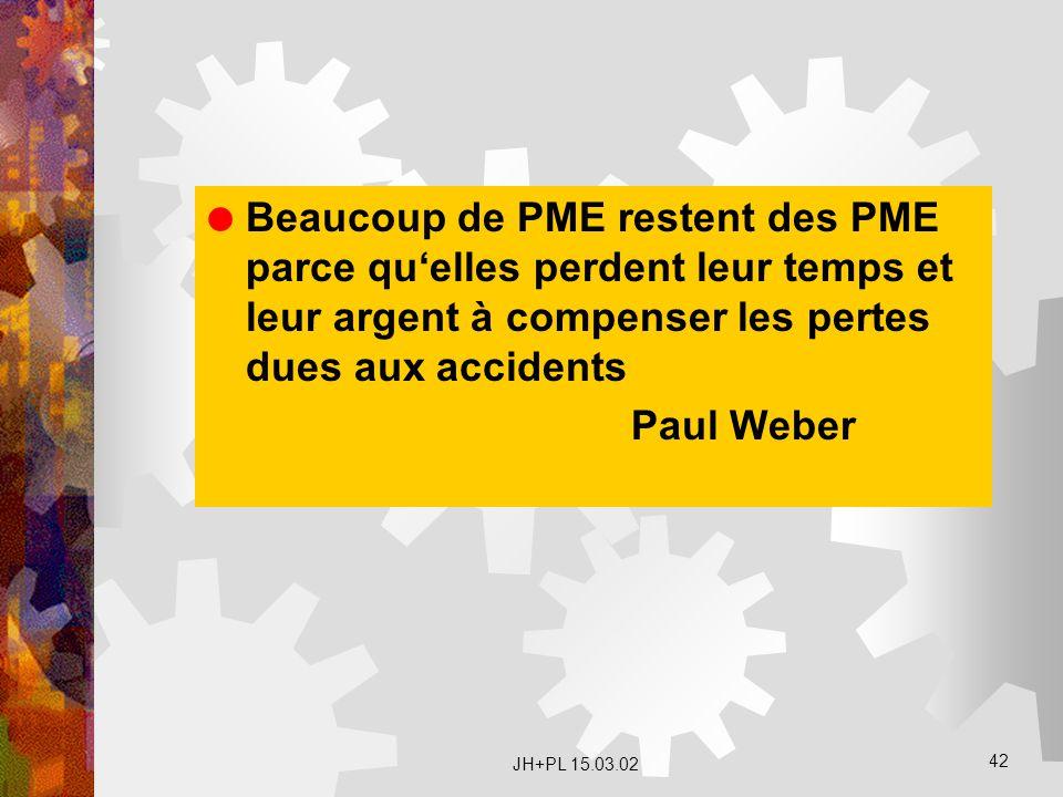 Beaucoup de PME restent des PME parce qu'elles perdent leur temps et leur argent à compenser les pertes dues aux accidents