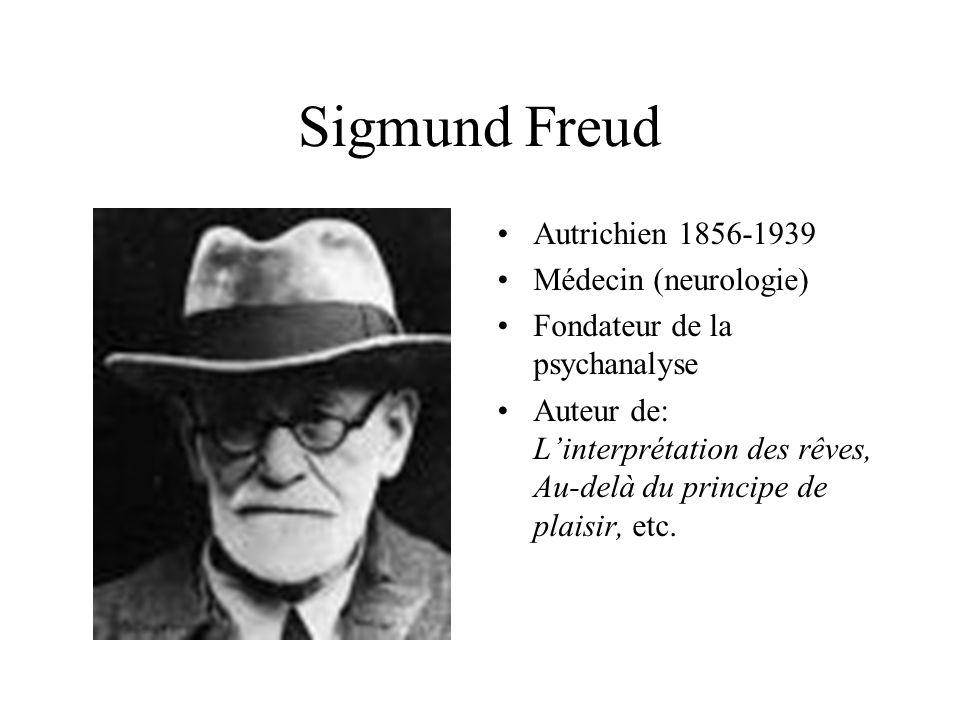 Sigmund Freud Autrichien 1856-1939 Médecin (neurologie)