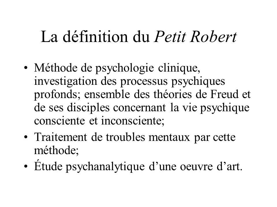 La définition du Petit Robert