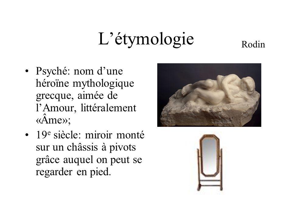 L'étymologie Rodin. Psyché: nom d'une héroïne mythologique grecque, aimée de l'Amour, littéralement «Âme»;