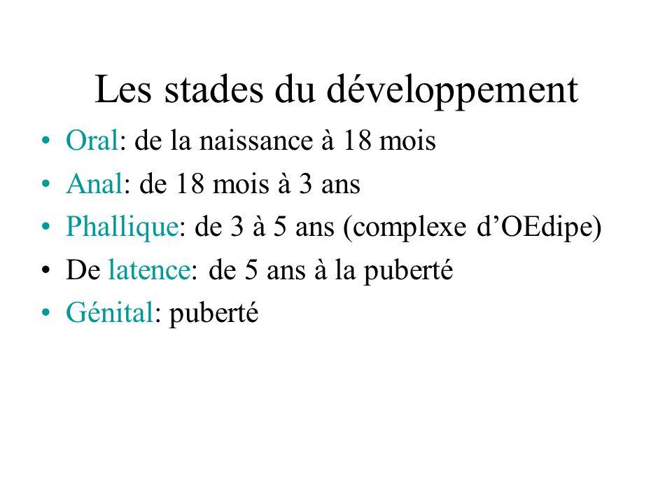 Les stades du développement