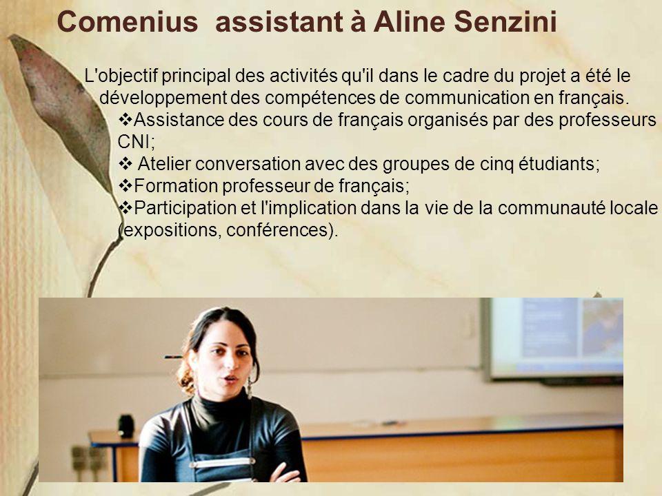 Comenius assistant à Aline Senzini