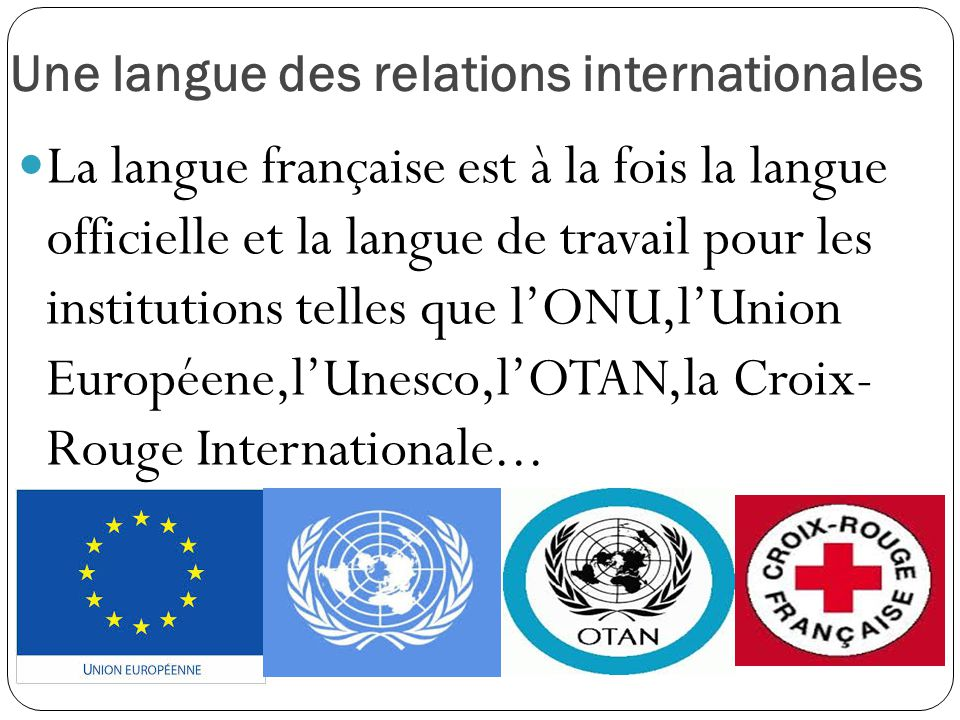 Une langue des relations internationales