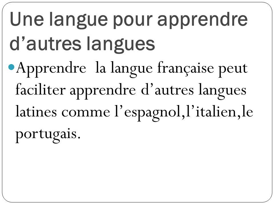 Une langue pour apprendre d'autres langues