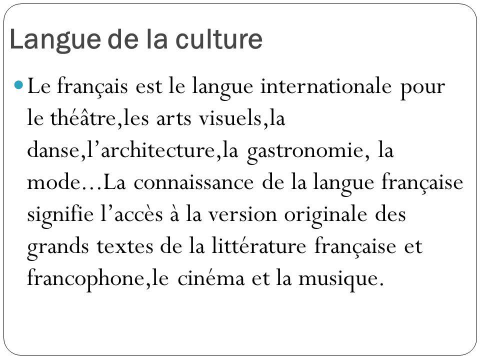 Langue de la culture