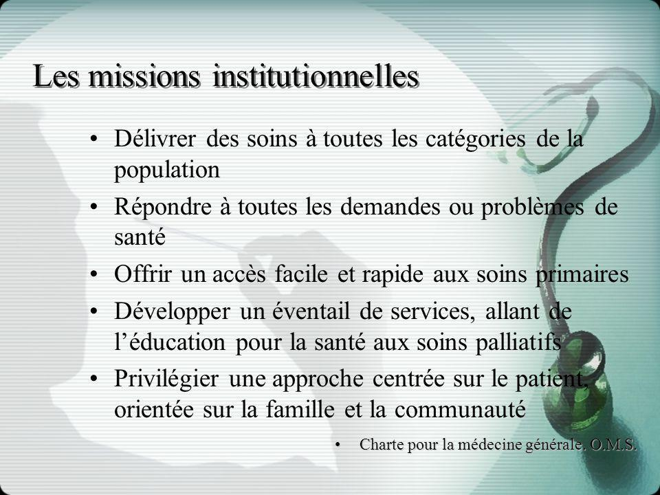 Les missions institutionnelles