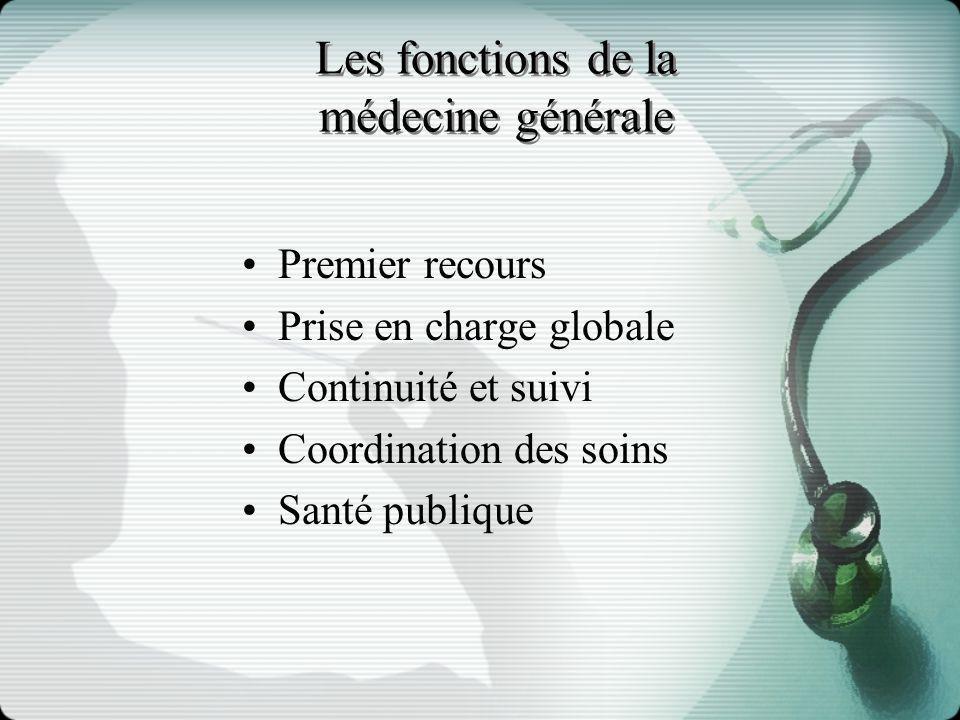 Les fonctions de la médecine générale