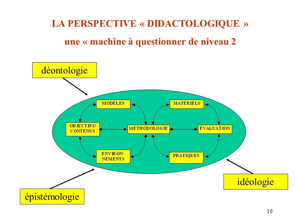 LA PERSPECTIVE « DIDACTOLOGIQUE »