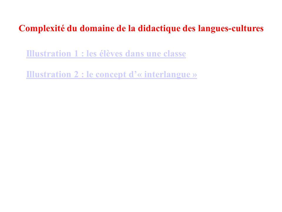 Complexité du domaine de la didactique des langues-cultures