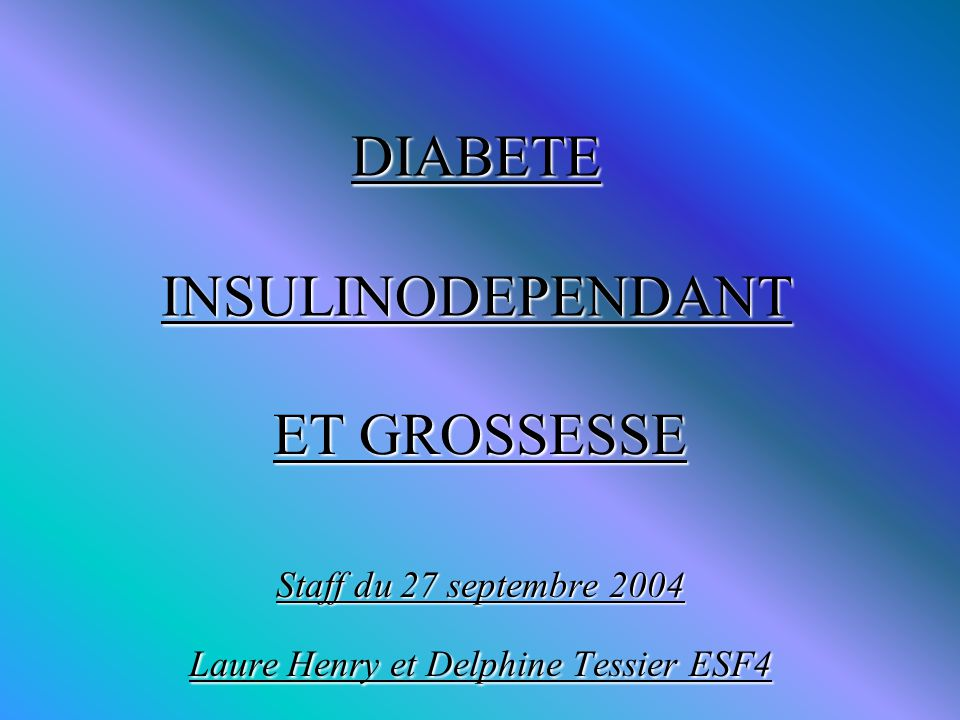 DIABETE INSULINODEPENDANT