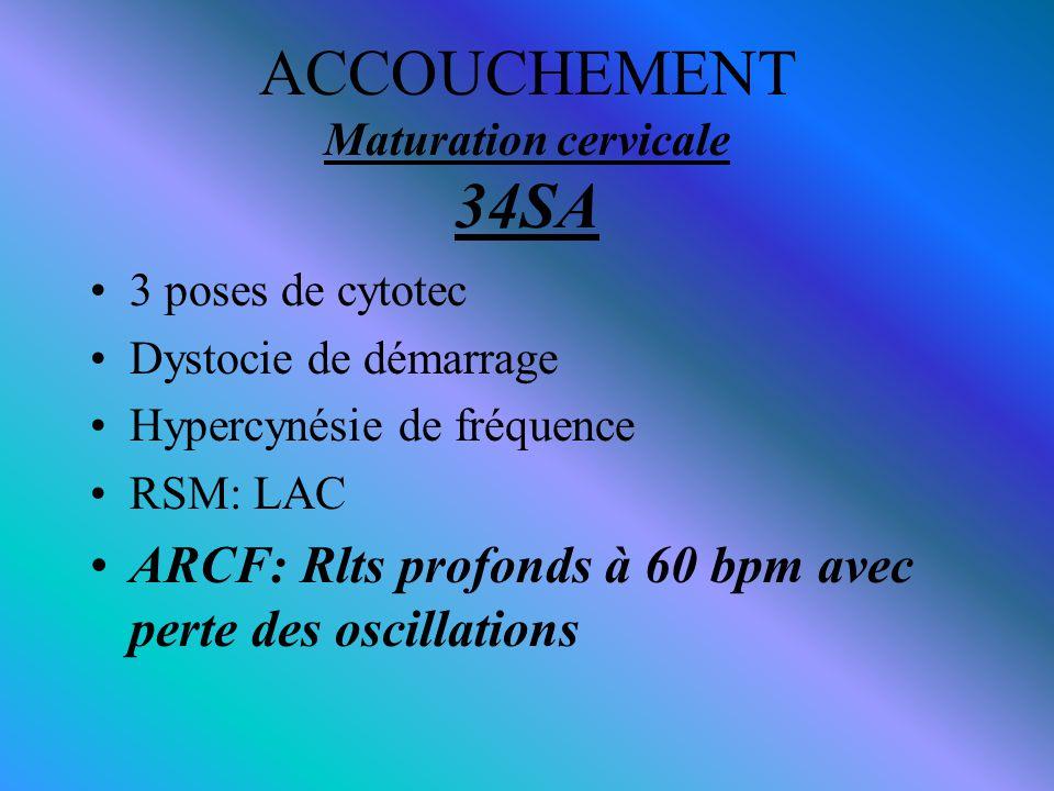 ACCOUCHEMENT Maturation cervicale 34SA