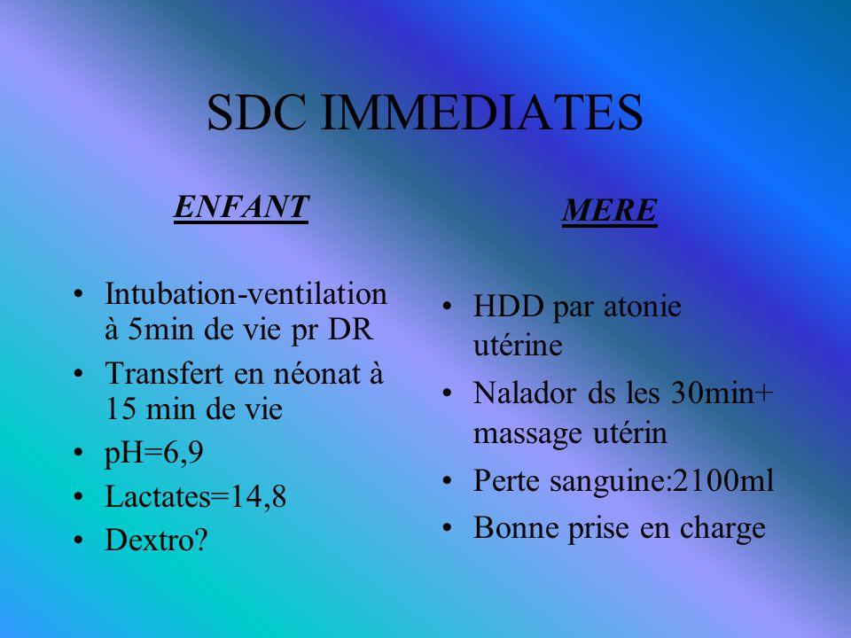 SDC IMMEDIATES ENFANT Intubation-ventilation à 5min de vie pr DR