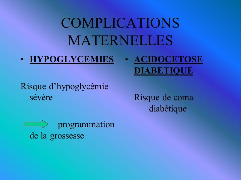 COMPLICATIONS MATERNELLES