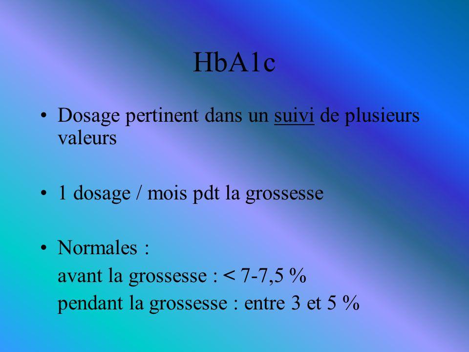 HbA1c Dosage pertinent dans un suivi de plusieurs valeurs