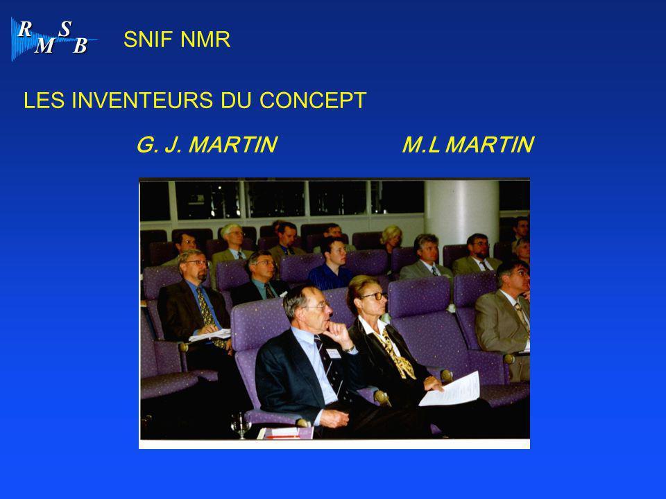 SNIF NMR LES INVENTEURS DU CONCEPT G. J. MARTIN M.L MARTIN