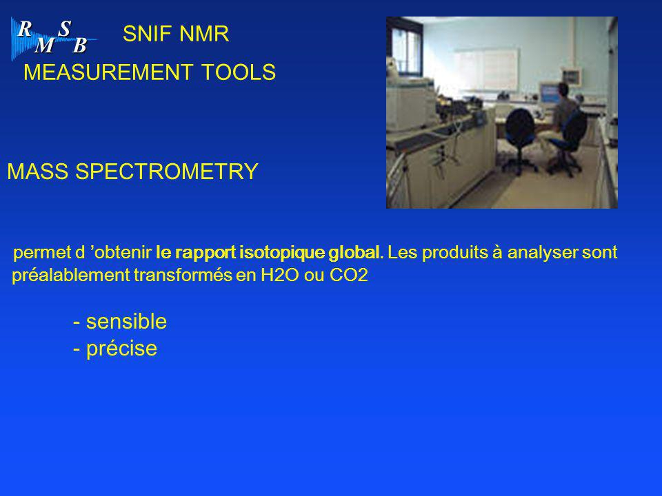 SNIF NMR MEASUREMENT TOOLS MASS SPECTROMETRY