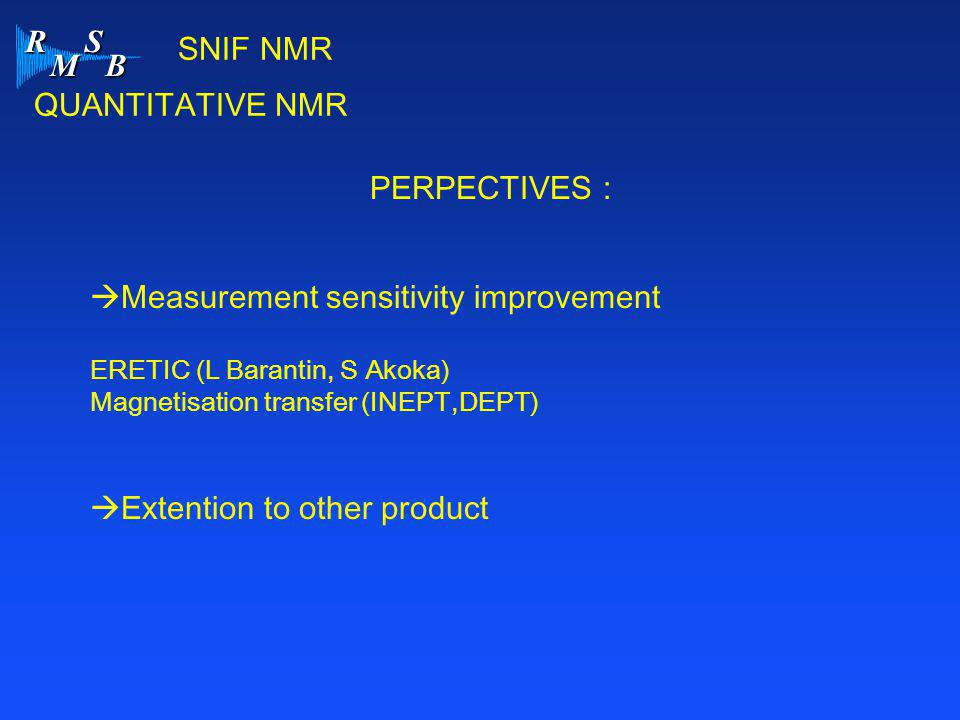 Measurement sensitivity improvement