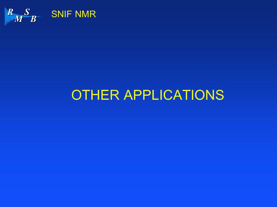 SNIF NMR OTHER APPLICATIONS