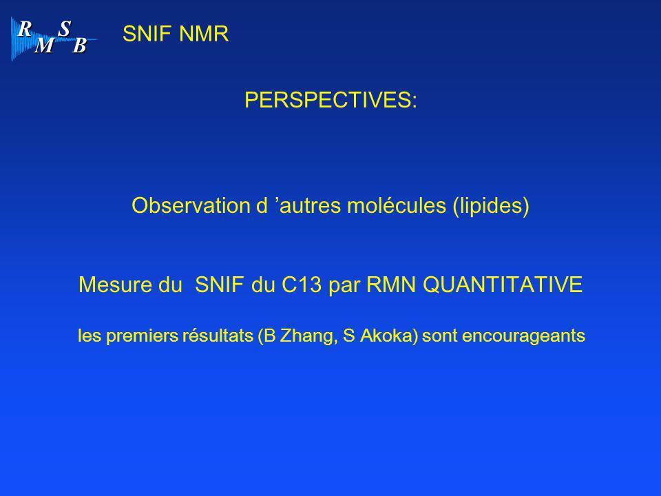 Observation d 'autres molécules (lipides)