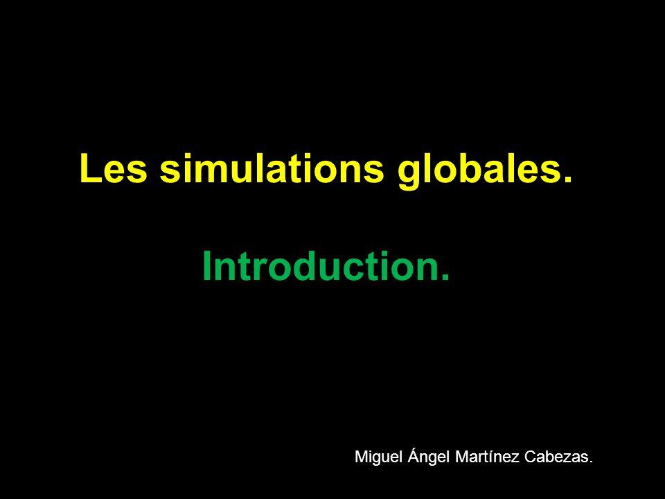Les simulations globales.