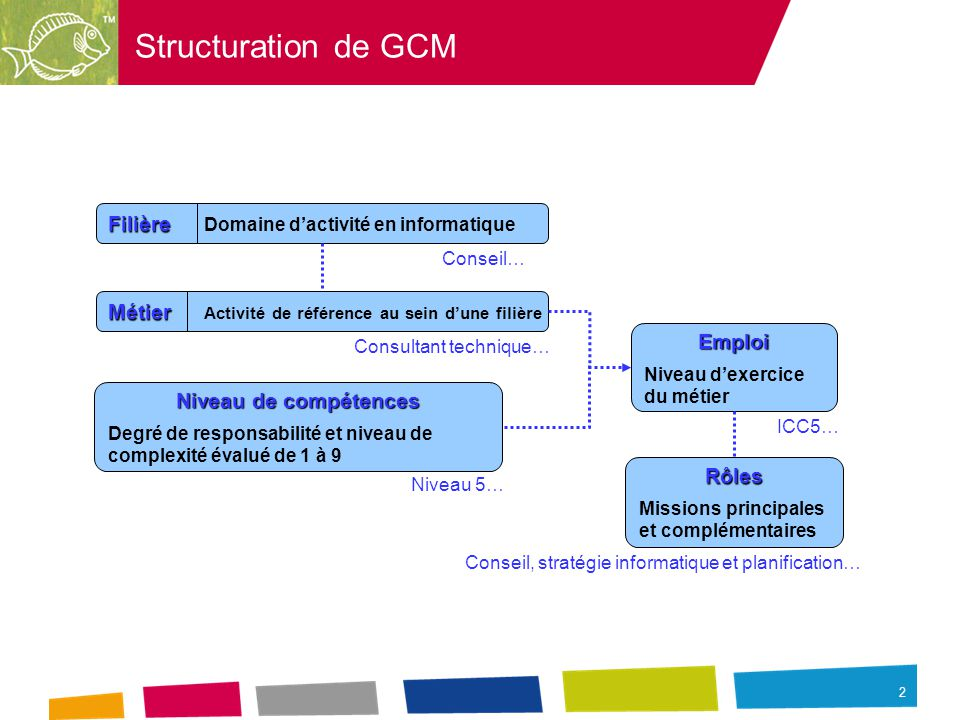 structuration de gcm fili u00e8re domaine d u2019activit u00e9 en informatique