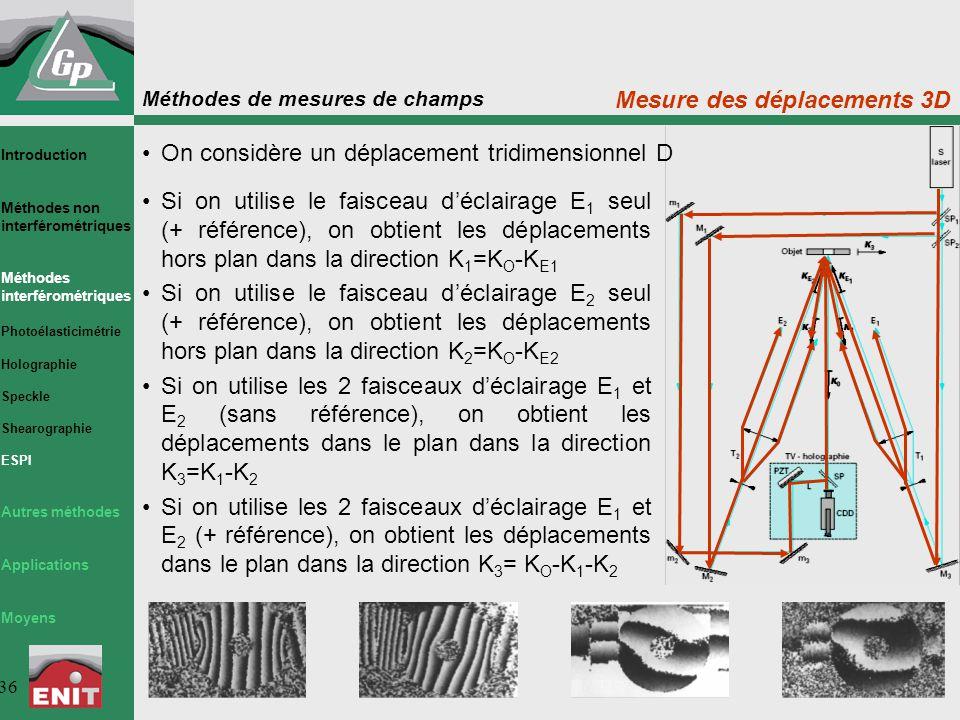 Mesure des déplacements 3D