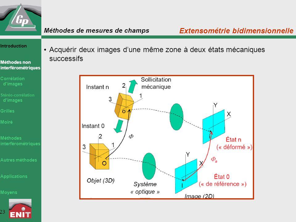 Extensométrie bidimensionnelle