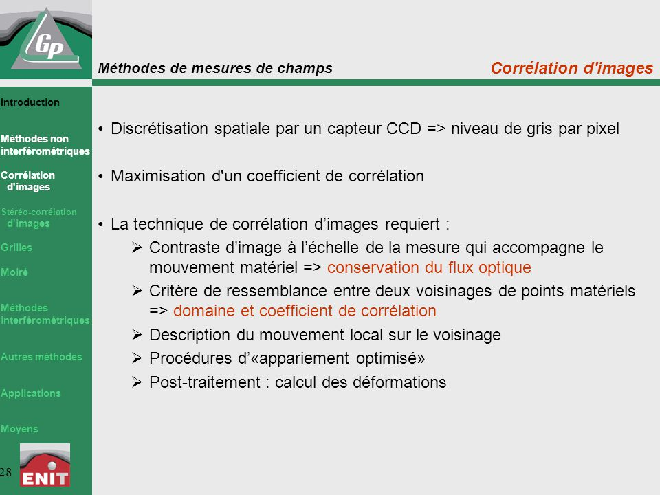 Maximisation d un coefficient de corrélation