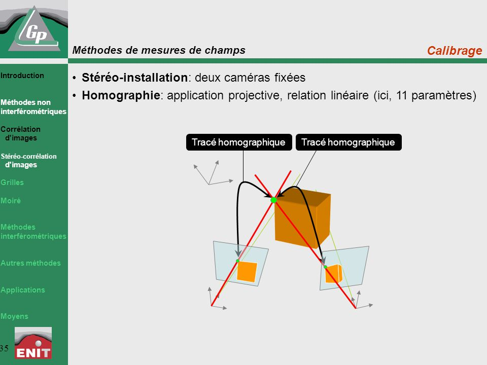 Stéréo-installation: deux caméras fixées